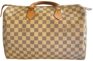 Louis Vuitton Satchel in White and blue checkered