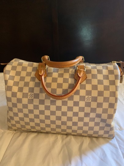 Louis Vuitton Satchel in White and blue checkered Image 1