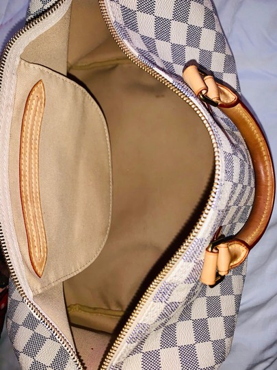 Louis Vuitton Satchel in White and blue checkered Image 6