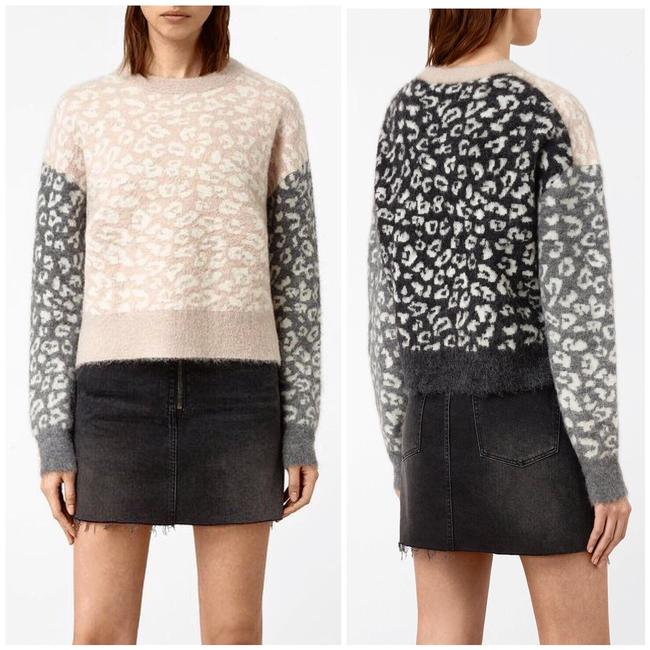 Preload https://img-static.tradesy.com/item/25775342/allsaints-leya-crewneck-printed-pink-sweater-0-2-650-650.jpg