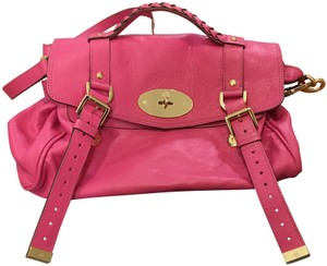 Mulberry Satchel in Rasberry