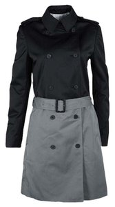 Joseph Joseph Black and Cloud Techno Taffeta Benicio Belted Trench Coat M
