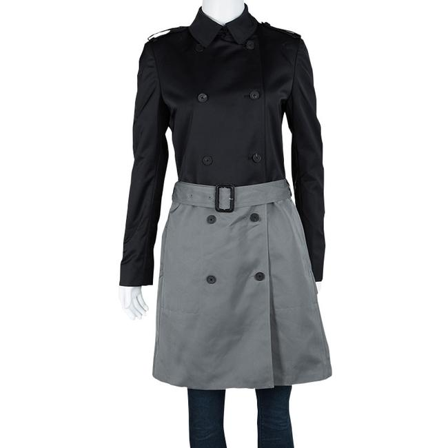 Joseph Joseph Black and Cloud Techno Taffeta Benicio Belted Trench Coat M Image 1