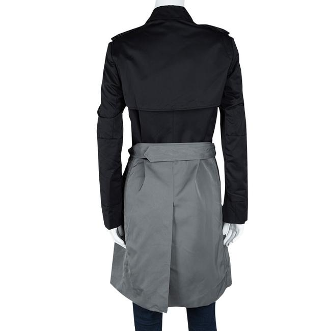 Joseph Joseph Black and Cloud Techno Taffeta Benicio Belted Trench Coat M Image 2