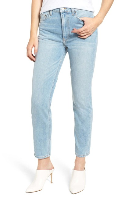 Reformation High Waist Straight Leg Jeans Image 1