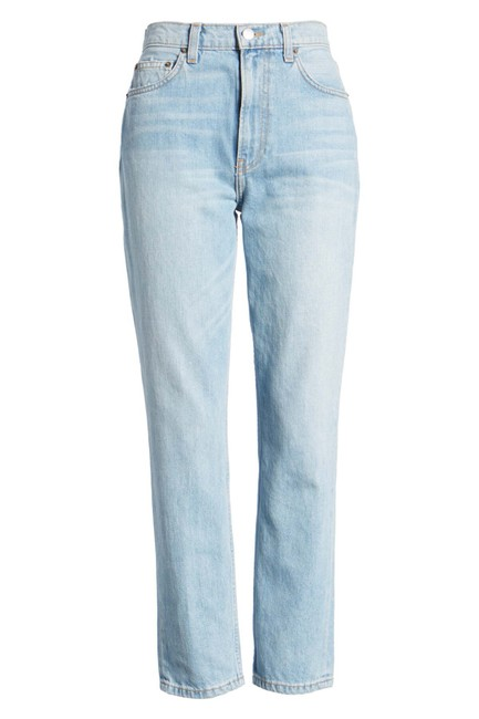 Reformation High Waist Straight Leg Jeans Image 3