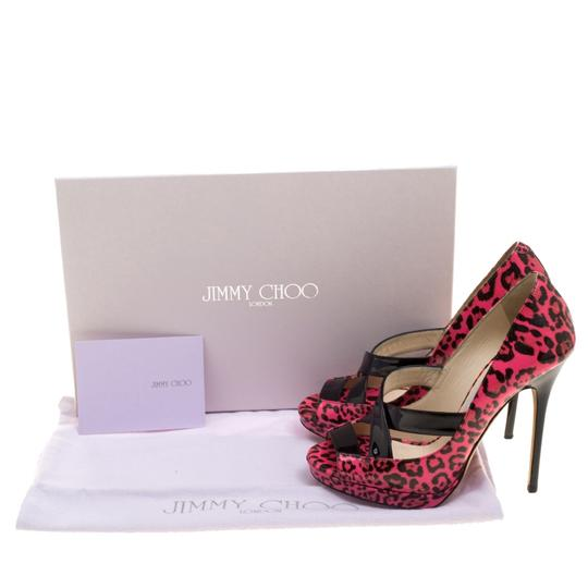 Jimmy Choo Leopard Print Patent Leather Platform Pink Pumps Image 7