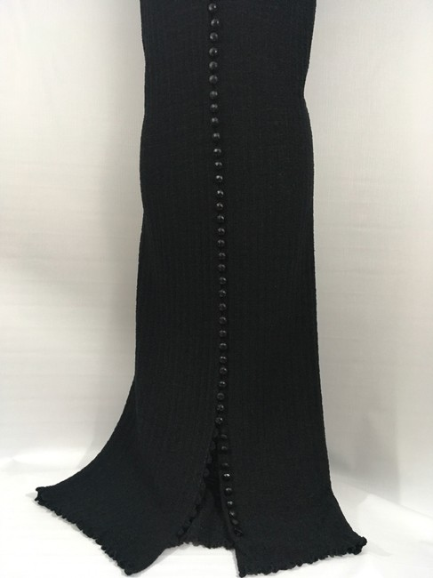 black w/black buttons Maxi Dress by Goldworm Vintage Sweater Dress/Duster Image 3