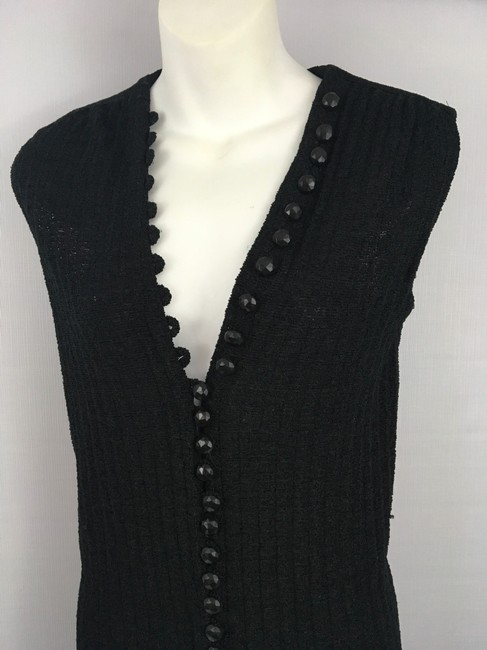 black w/black buttons Maxi Dress by Goldworm Vintage Sweater Dress/Duster Image 4