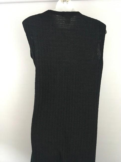 black w/black buttons Maxi Dress by Goldworm Vintage Sweater Dress/Duster Image 5