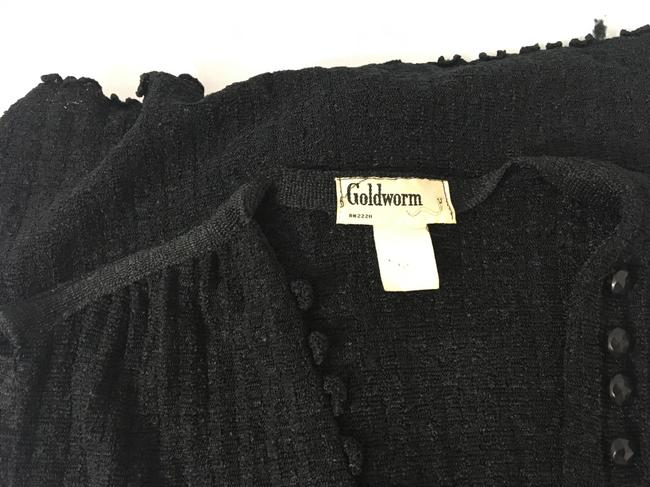 black w/black buttons Maxi Dress by Goldworm Vintage Sweater Dress/Duster Image 7