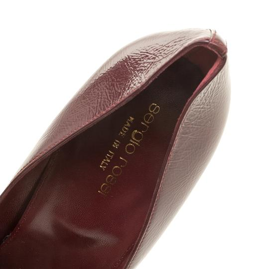 Sergio Rossi Patent Leather Pointed Toe Burgundy Pumps Image 5