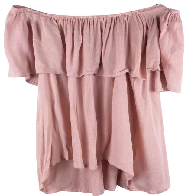 Preload https://img-static.tradesy.com/item/25775522/honey-punch-pink-ruffle-off-the-shoulder-blouse-size-6-s-0-1-650-650.jpg