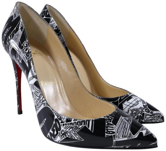 Christian Louboutin Graffiti Graffiti Print Pigalle Follies Nicograf Black Pumps Image 0
