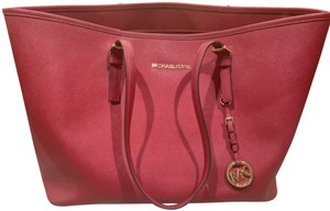 Michael Kors Purse Purse Purse Leather Designer Tote in Red