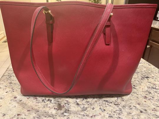 Michael Kors Purse Purse Purse Leather Designer Tote in Red Image 1