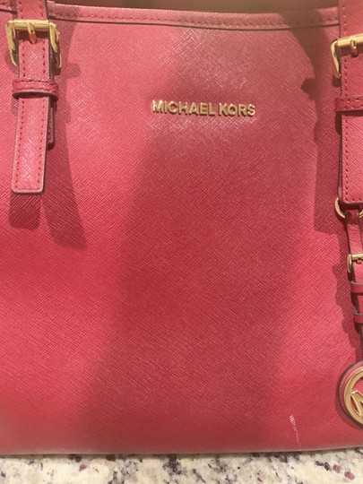 Michael Kors Purse Purse Purse Leather Designer Tote in Red Image 4