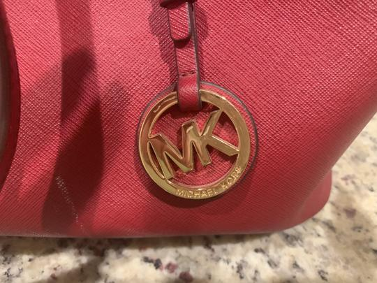 Michael Kors Purse Purse Purse Leather Designer Tote in Red Image 5