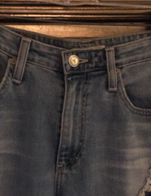 ALEXACHUNG Straight Leg Jeans-Distressed Image 1