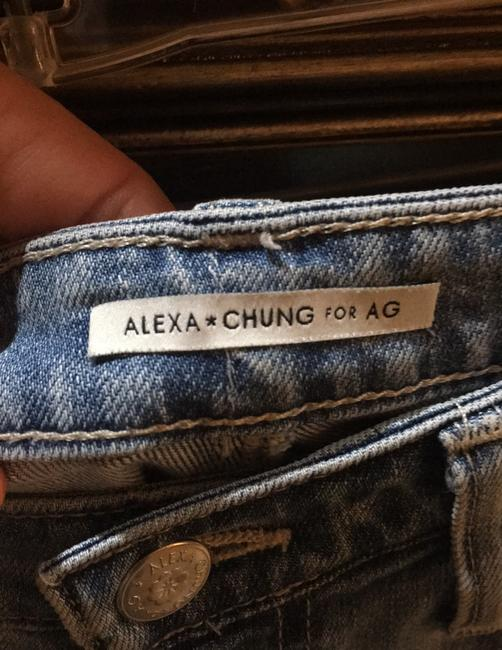 ALEXACHUNG Straight Leg Jeans-Distressed Image 5