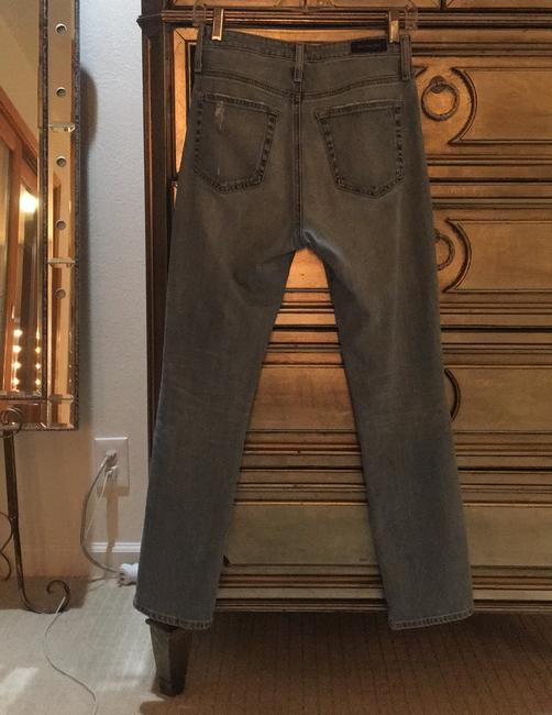 ALEXACHUNG Straight Leg Jeans-Distressed Image 7