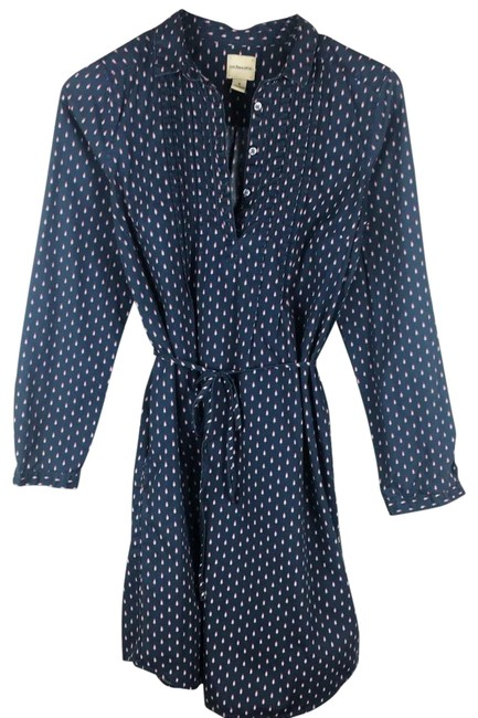 Preload https://img-static.tradesy.com/item/25775574/gh-bass-and-co-blue-long-sleeve-belted-short-casual-dress-size-6-s-0-1-650-650.jpg