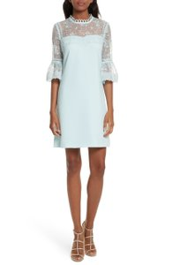 Ted Baker short dress Pale blue Rubbee Cut Out on Tradesy