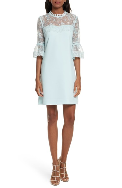 Preload https://img-static.tradesy.com/item/25775580/ted-baker-pale-blue-rubbee-ruffle-floral-cut-out-shoulders-short-casual-dress-size-8-m-0-0-650-650.jpg