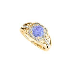 Marco B Filigree Ring in 14K Yellow Gold with Tanzanite and CZ
