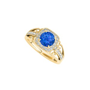 Marco B September Birthstone Sapphire and CZ Filigree Ring