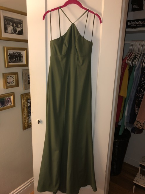 Item - Green Crepe Gb068p- Naya Formal Bridesmaid/Mob Dress Size 6 (S)