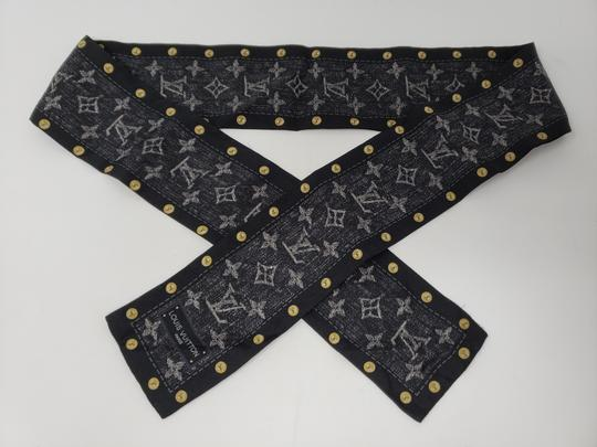 Louis Vuitton Black multicolor Louis Vuitton LV New Denim bandeau scarf Image 7