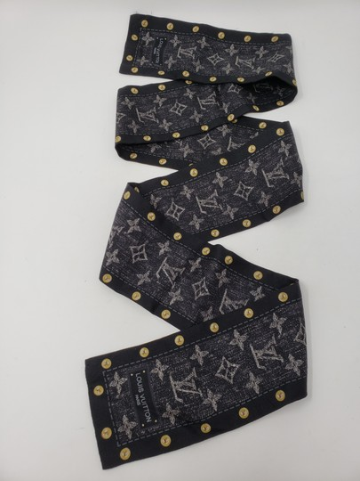 Louis Vuitton Black multicolor Louis Vuitton LV New Denim bandeau scarf Image 9