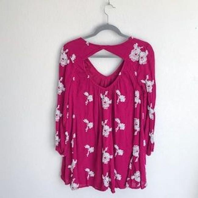 Free People short dress Berry Boho Embroidered Summer on Tradesy Image 1