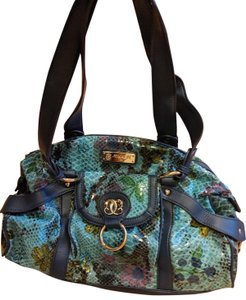 Sharif Handbag Purse New Satchel in Teal, green, blue