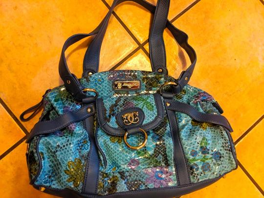 Sharif Handbag Purse New Satchel in Teal, green, blue Image 2