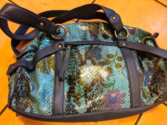 Sharif Handbag Purse New Satchel in Teal, green, blue Image 4