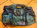 Sharif Handbag Purse New Satchel in Teal, green, blue Image 5
