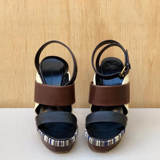 Balenciaga Brown, black, blue Sandals Image 2