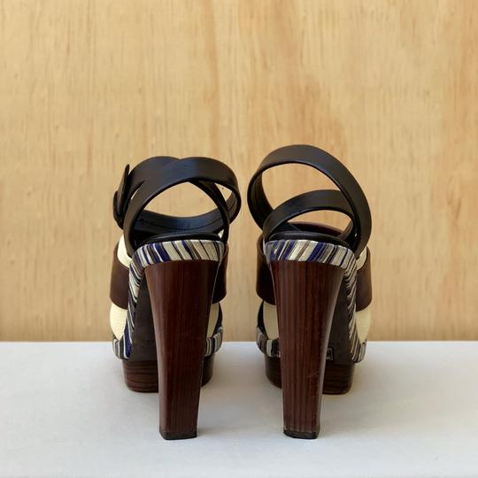 Balenciaga Brown, black, blue Sandals Image 3