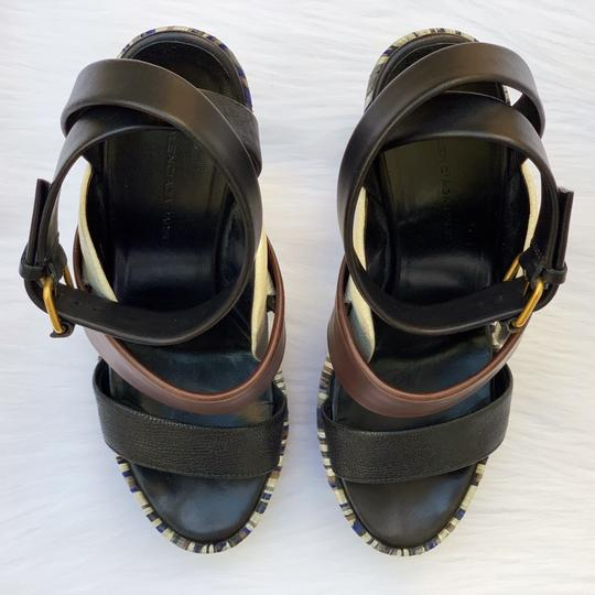 Balenciaga Brown, black, blue Sandals Image 5