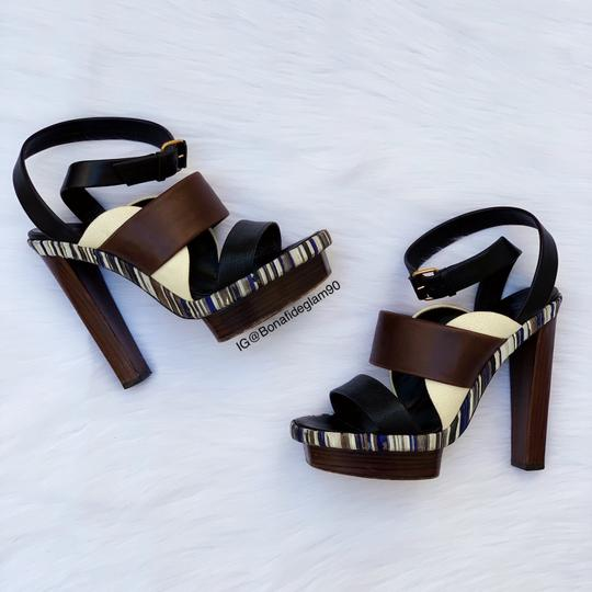 Balenciaga Brown, black, blue Sandals Image 8