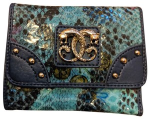 Sharif New Sharif Wallet Teal Blue Panther Emblem Original Leather