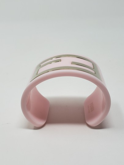 Fendi Pink resin gold-tone metal Fendi Zucca wide cuff Image 4