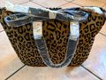 Susan Lucci Handbag Purse Panther New Satchel in brown, light brown Image 3