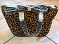 Susan Lucci Handbag Purse Panther New Satchel in brown, light brown Image 7
