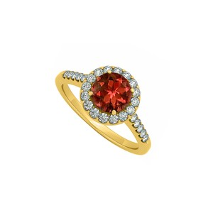 Marco B June Birthstone Garnet and Cubic Zirconia April Birthstone Halo Engage