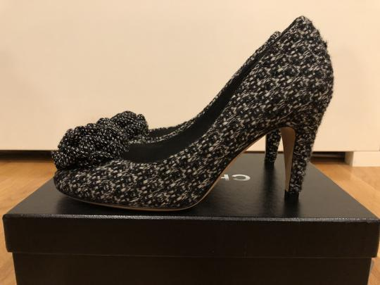 Chanel Black and White Tweed Pumps Image 1