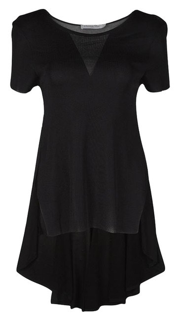 Preload https://img-static.tradesy.com/item/25775869/dior-black-perforated-knit-short-sleeve-high-s-tunic-size-4-s-0-1-650-650.jpg
