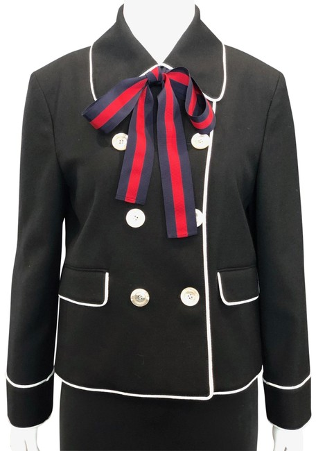 Preload https://img-static.tradesy.com/item/25775871/gucci-black-double-breasted-with-striped-ribbon-bow-jacket-size-6-s-0-1-650-650.jpg